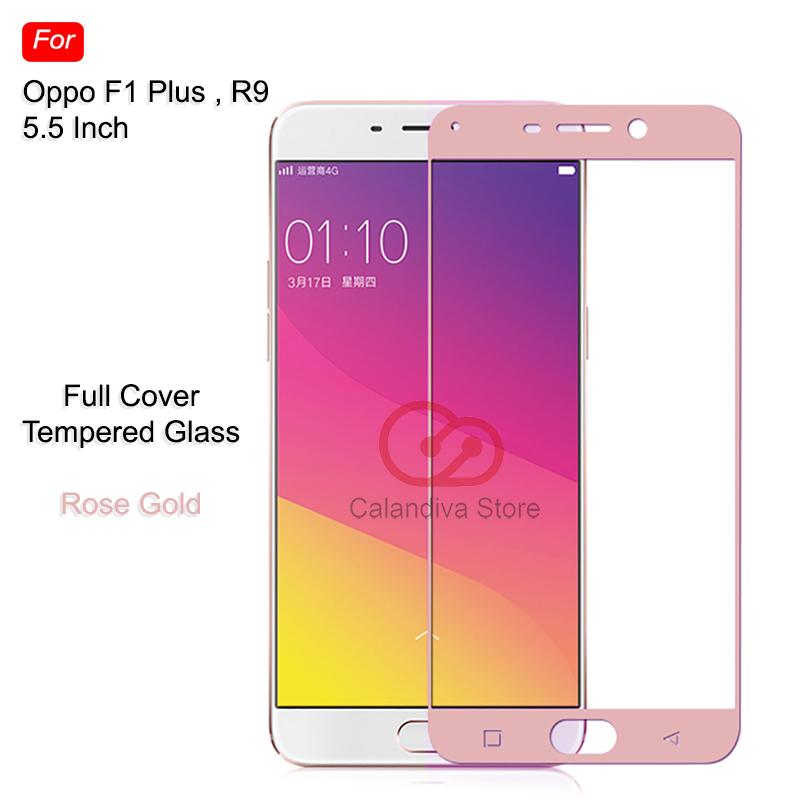 ONE-X  Full Cover Tempered Glass for OPPO F1 Plus / R9 5.5 inch – Rose Gold