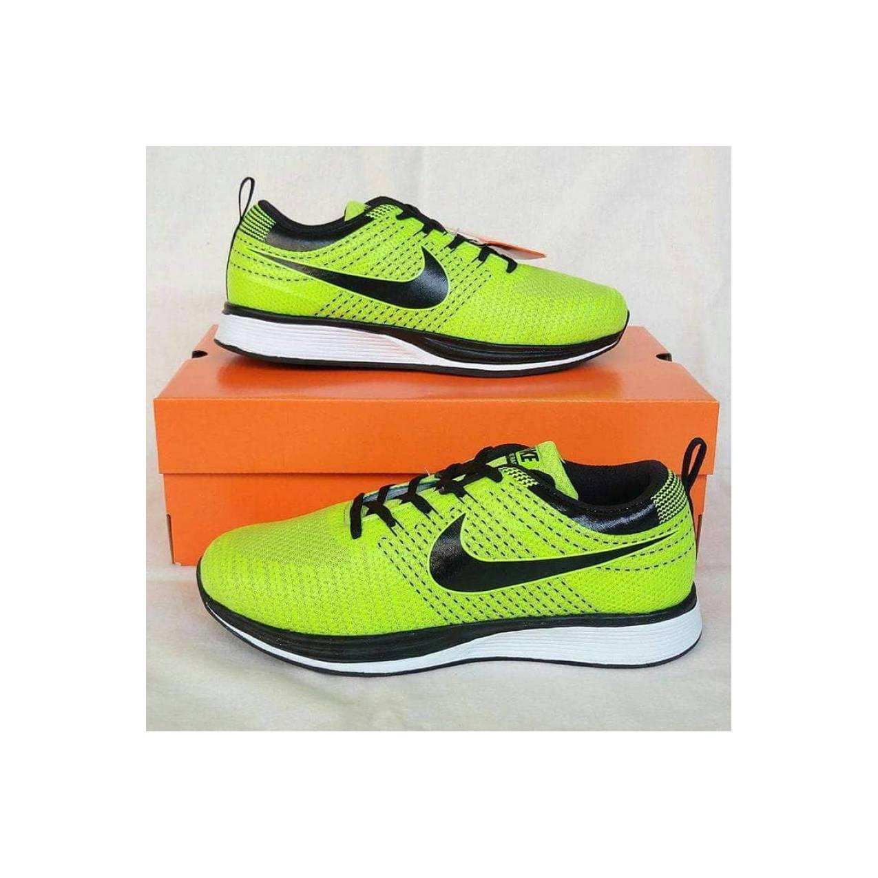 Sepatu Nike Run Flyknit Racer Woman lime black