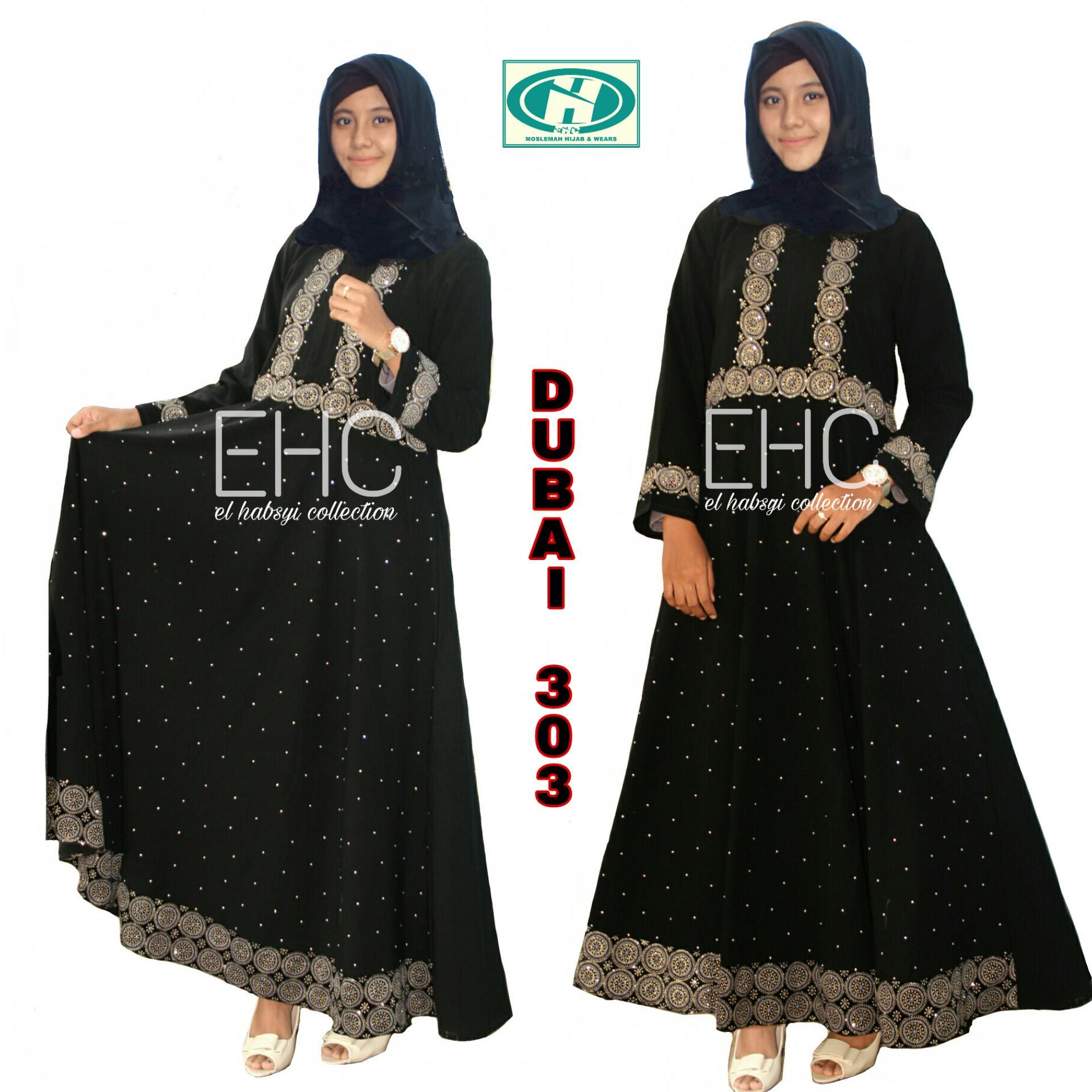 Gamis abaya arab hitam abaya dubai 303