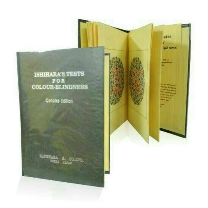 Promo Buku Ishihara 14 Plates untuk tes buta warna  Import High Quality