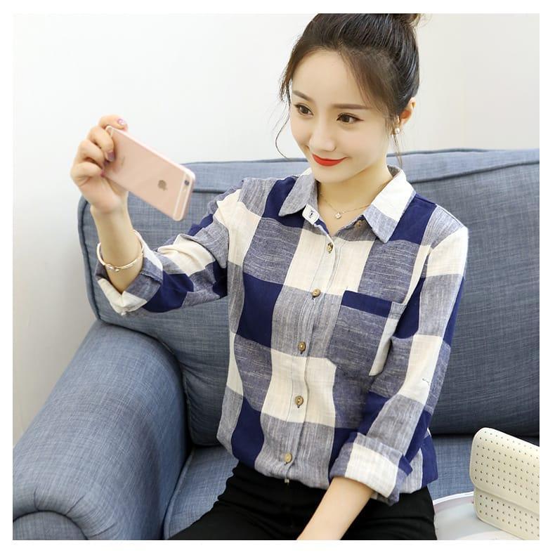 HRV Shop Kemeja Wanita Kotako / Baju Wanita / Blouse Korea / Atasan Wanita / Baju Formal / Kemeja Wanita / Kemeja Formal / Atasan Muslim / Kemeja Cewek Tunik / Kemeja Kerja