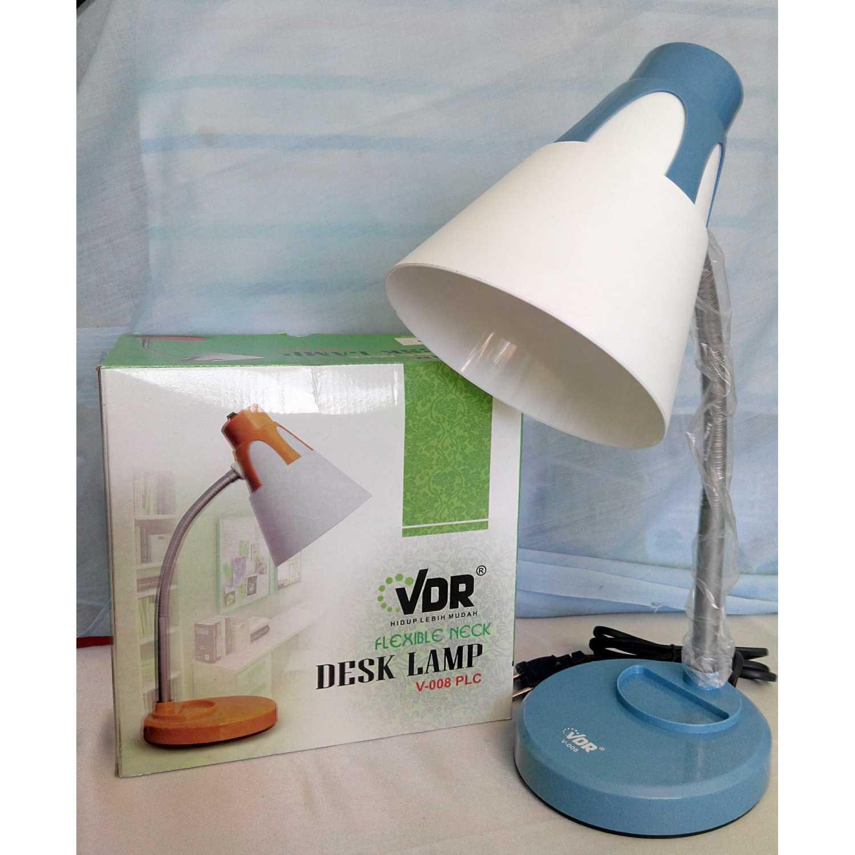 Lampu Baca Meja Belajar Fleksibel Desk Lamp VDR E27 Bagus Minimalis Mewah