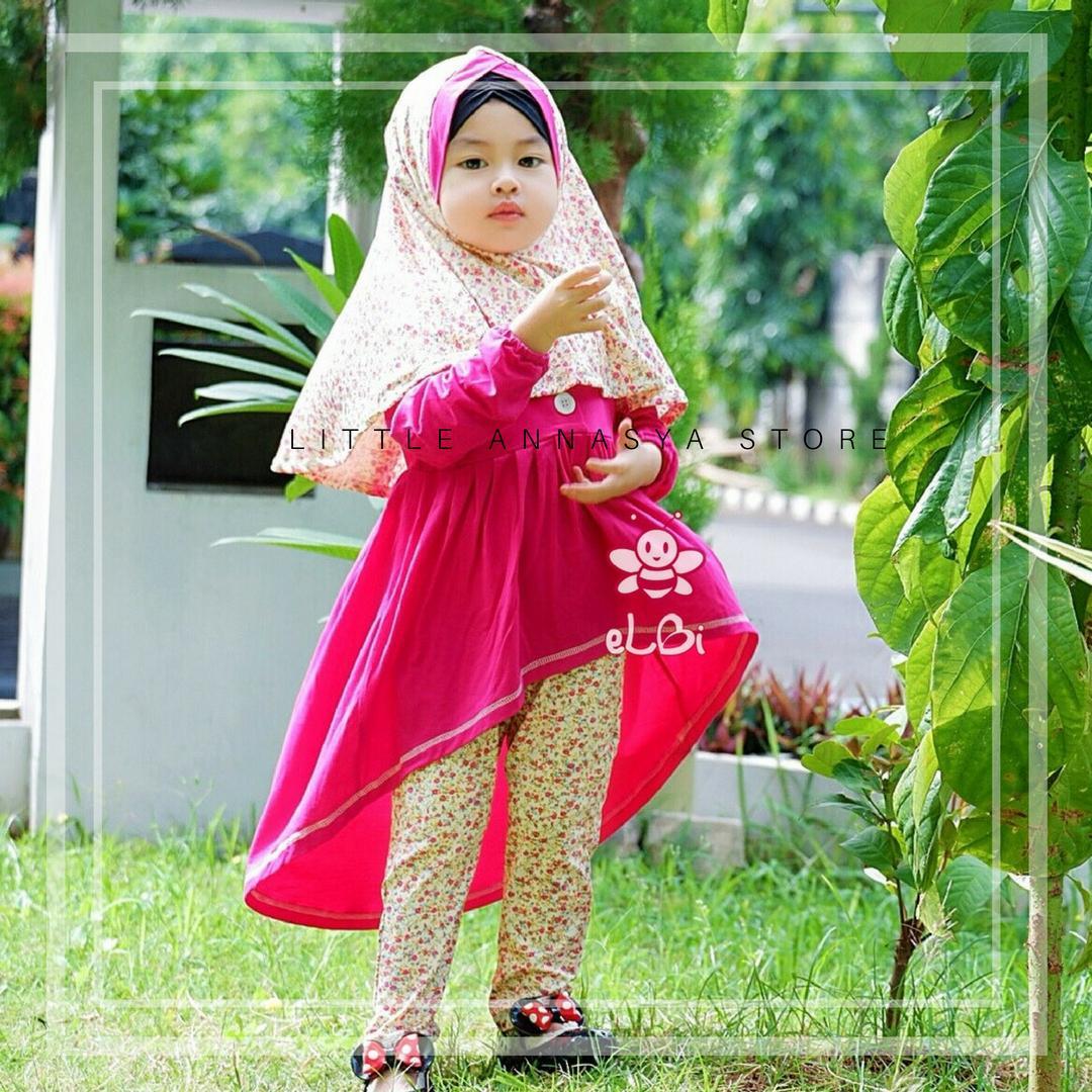Baju Muslim Anak Perempuan / Baju Muslim Balita / Gamis Anak / Baju Muslim Bayi Perempuan / Setelan