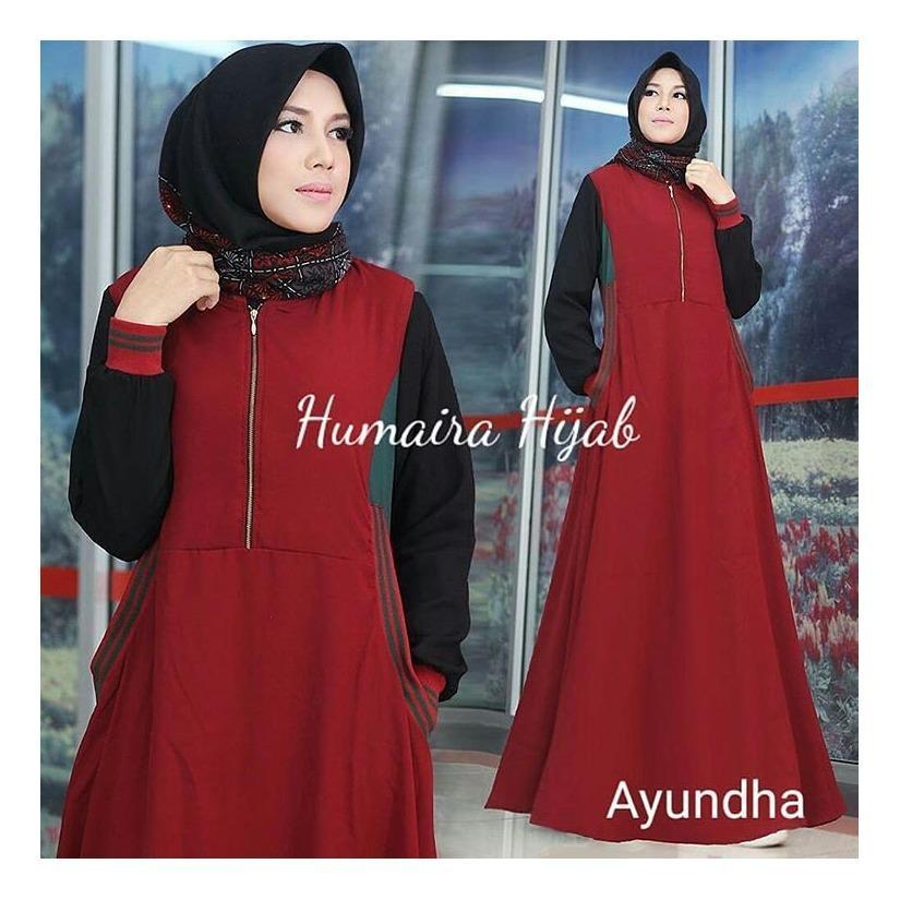 """BC AYUNDA"" Maxi Dress Syari Gamis Bahan Balotely Wolfice Katun Rubiah Spandek Panjang Hijab Casual Pakaian Wanita Trand Terbaru Fashionable"