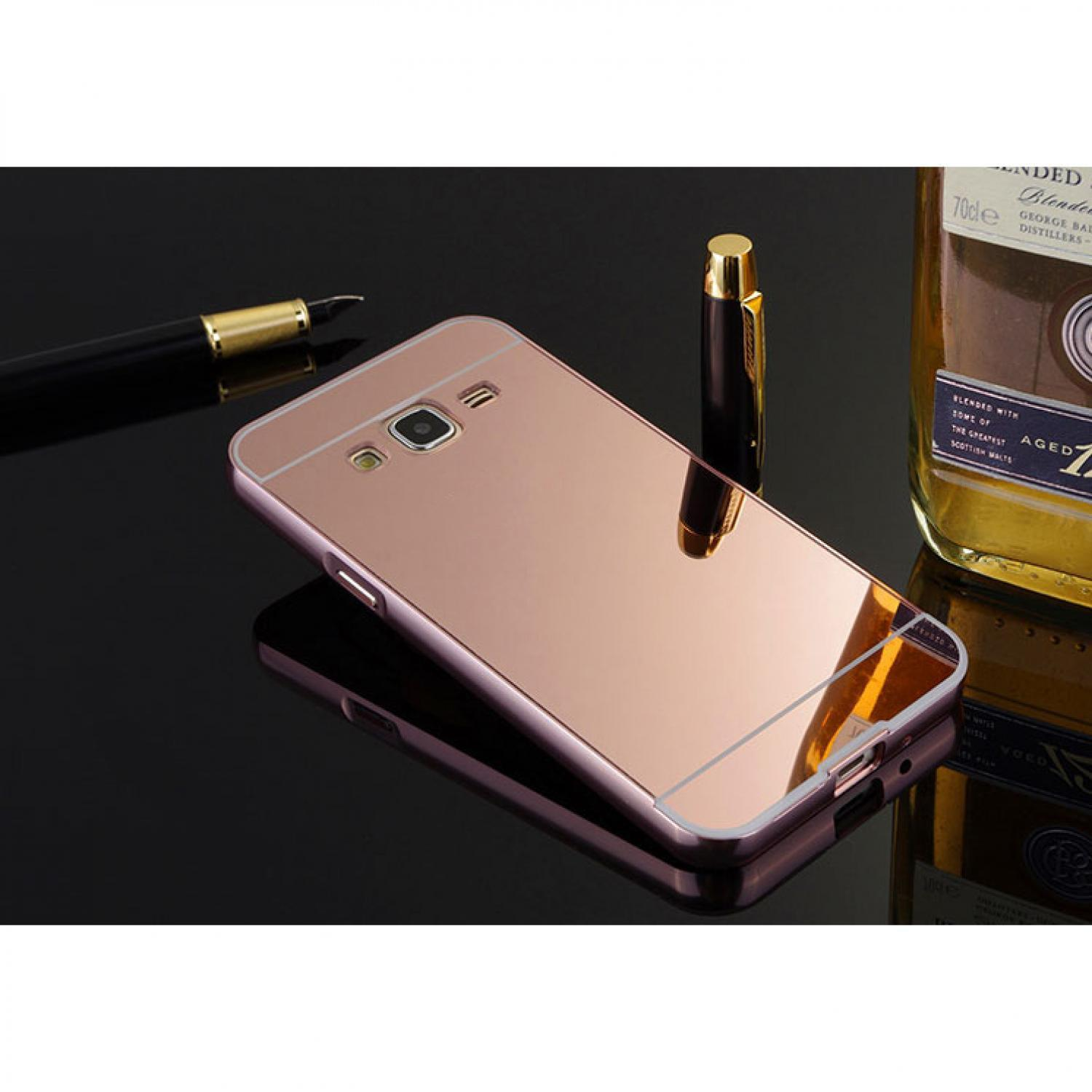 Casing Hp Aluminium Bumper Hardcase with Mirror Back Cover for Samsung Murah Lucu