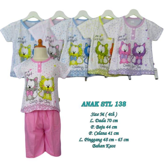 Baju tidur anak 4 tahun setelan celana pendek size M - M-ANAK STL 138, Pink Muda / Baju Tidur / Baju Tidur Wanita / Baju Tidur Jumbo / Setelan Baju Tidur / Baju Tidur Murah / Baju Tidur Kekinian / Baju Tidur Berkualitas