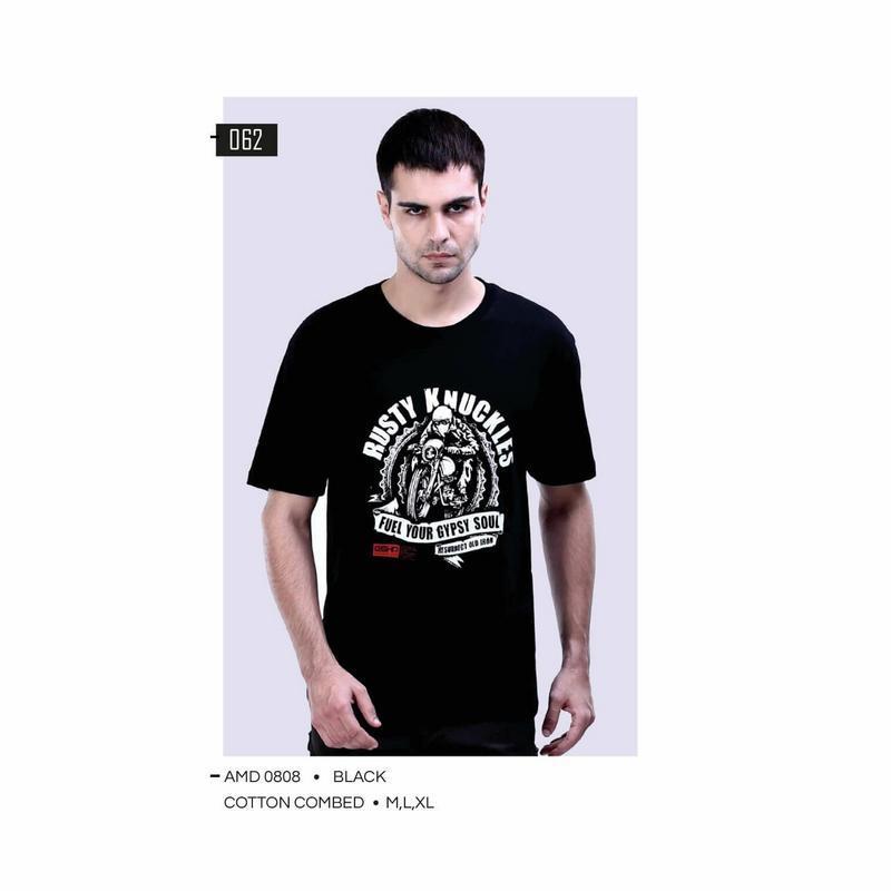 G-shop Kaos Distro Bandung Pria Hitam - AMD 0808