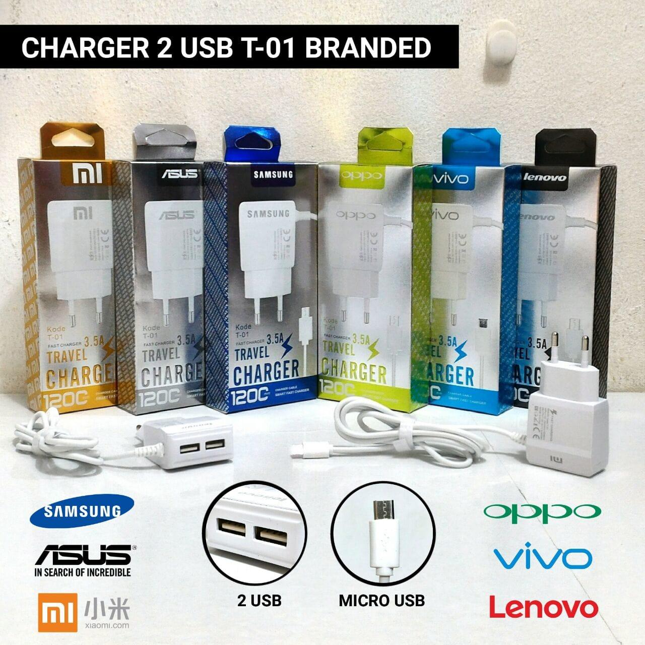 Charger 2 USB T01 3.5A OPPO
