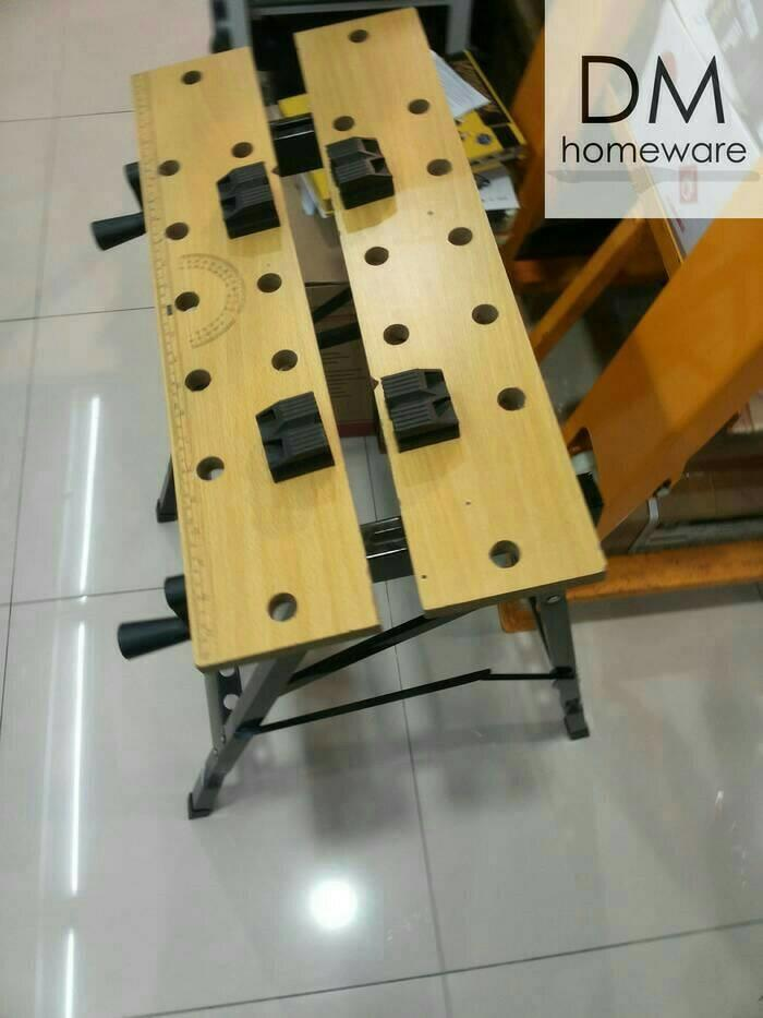 Portable Workbench Krisbow/ Meja Kerja Gergaji/ Potong Kayu