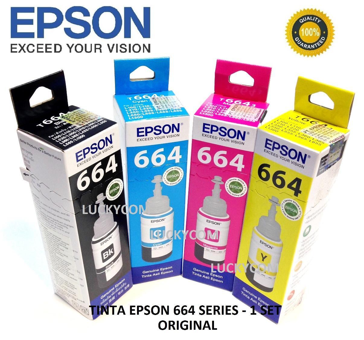 Jual Tinta Printer Termurah Terlengkap Hp 803 Black Dan Color Original Paketan Epson T664 Series Ink Bottle For L120 L220 L360 L380