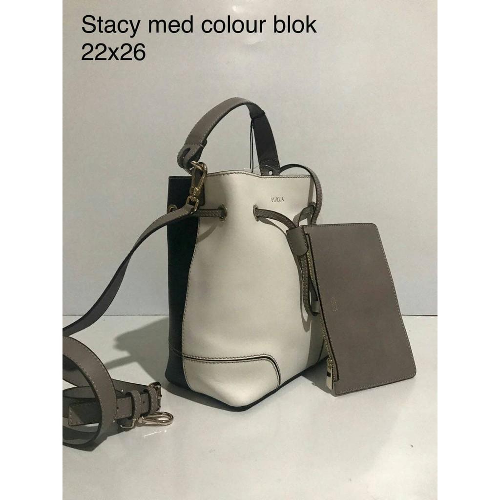 Jual Tas Furla Stacy Med Colour Blok Original