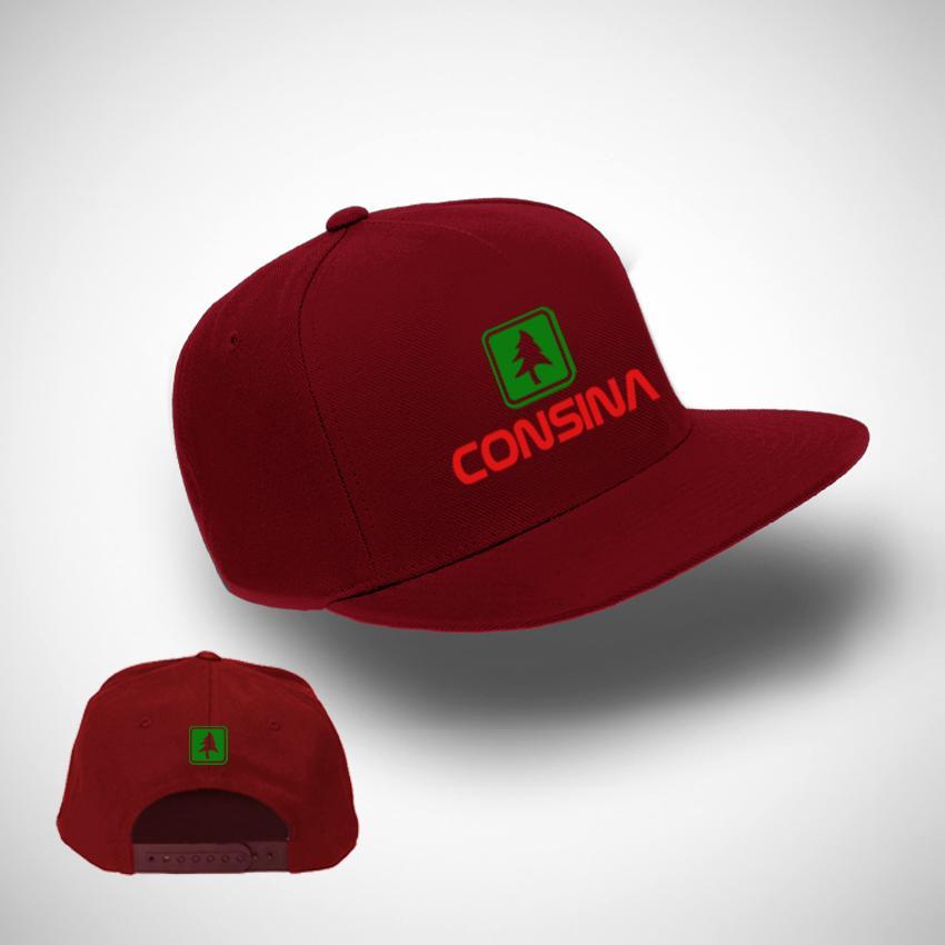 Jakarta Distro Topi Snapback Consina Logo Red Premium