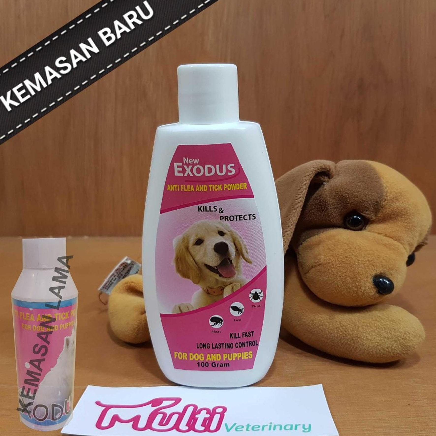 Exodus Bedak Anjing Dog Puppies Anti Flea Tick Powder Talk 100 Gr By Multi Veterinary.