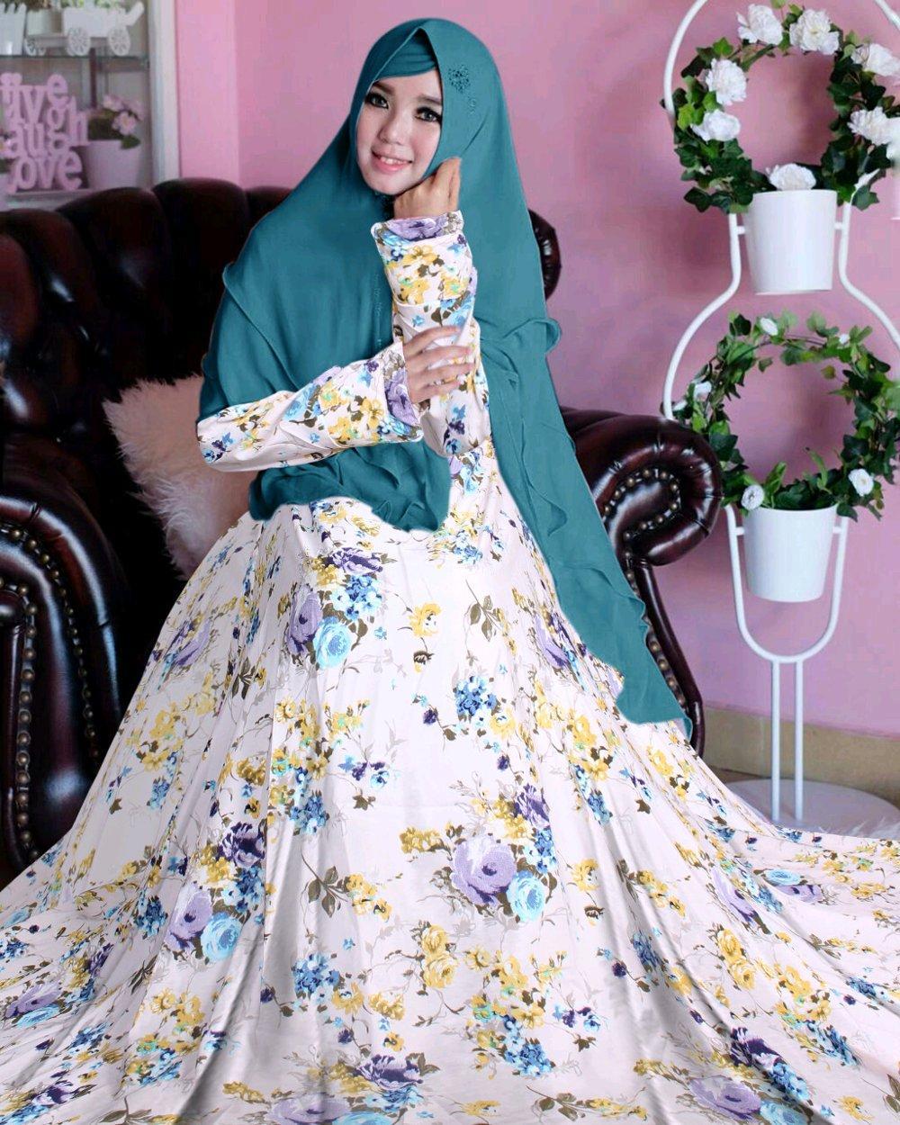 Gamis Syari Muslimah Plus Khimar KLPA di lapak Toko Kembar Tanah Abang rinymangiwa