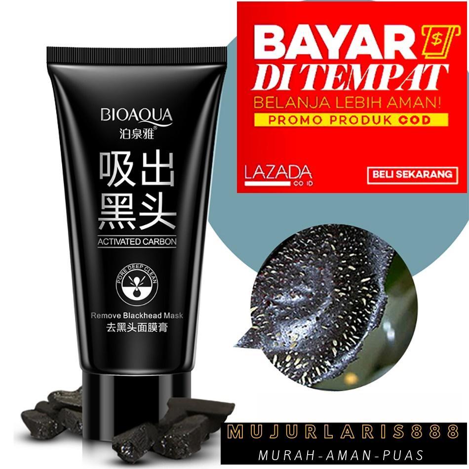 Masker Wajah Bio Aqua Black Mask Deep Cleaning Remove BlackHead 1 Pcs
