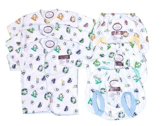 GEMA Baju Bayi Lengan Pendek Kancing Depan   Celana Pop Kacamata Bayi  Chubby Print (0 b5c0f3f37e