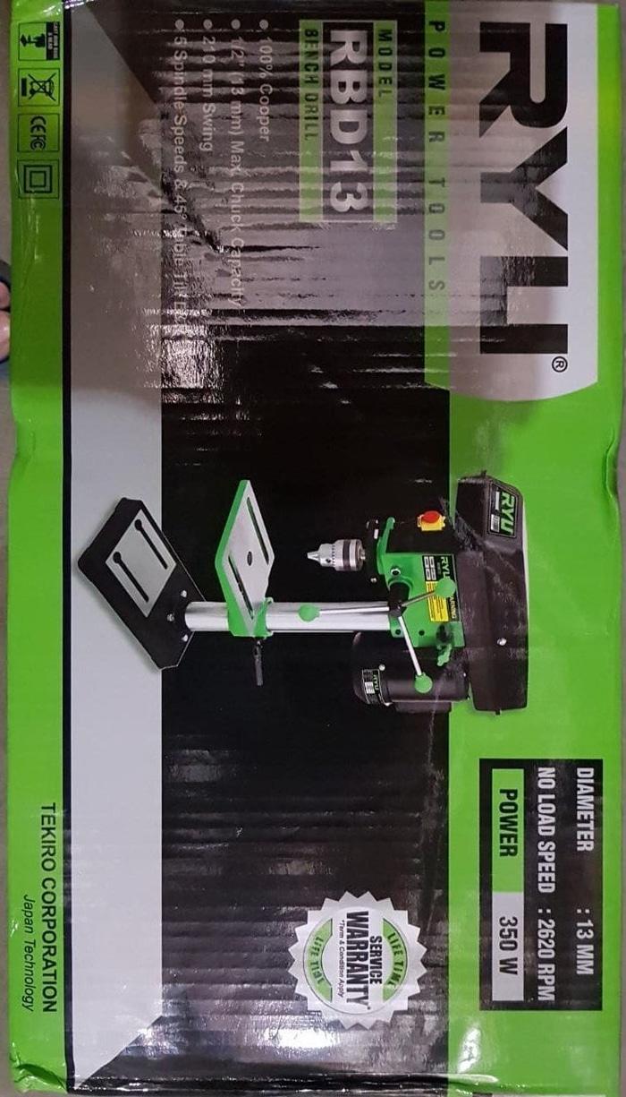 Promo  Mesin Bor Duduk Merk RYU Made In Japan 13 mm bench Drill  Original