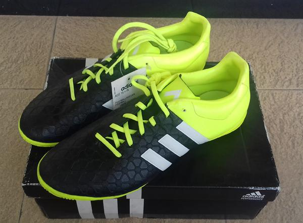 Retro Sepatu Futsal Adidas ACE 15.4 IN Black #Q22477. Original BNOB.