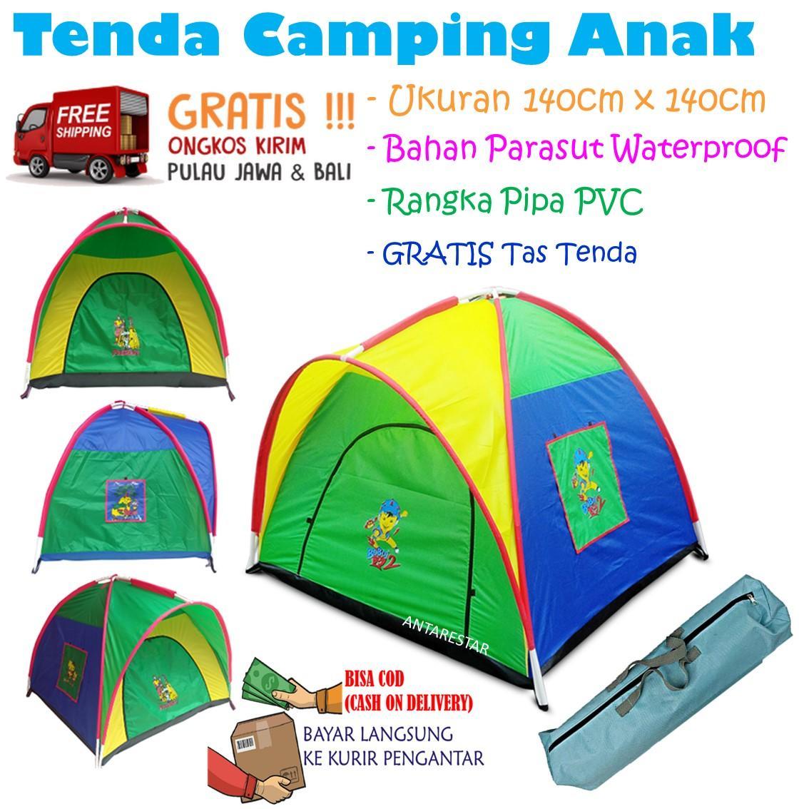 Tenda Anak 140 cm x 140 cm Ukuran Sedang Besar Kemah Camping Mainan
