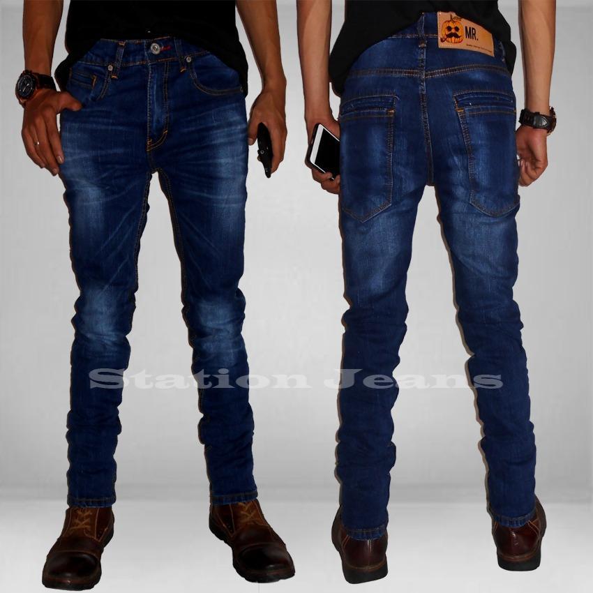 Celana Jeans Pria Straitch fit Skinny Lentur - Branded BestSeller