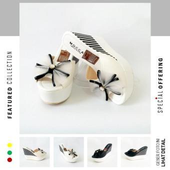 Pencari Harga Irien - DL21 Sepatu Wanita - Sepatu Sandal Wedges - Wedges Casual terbaik murah - Hanya Rp56.677