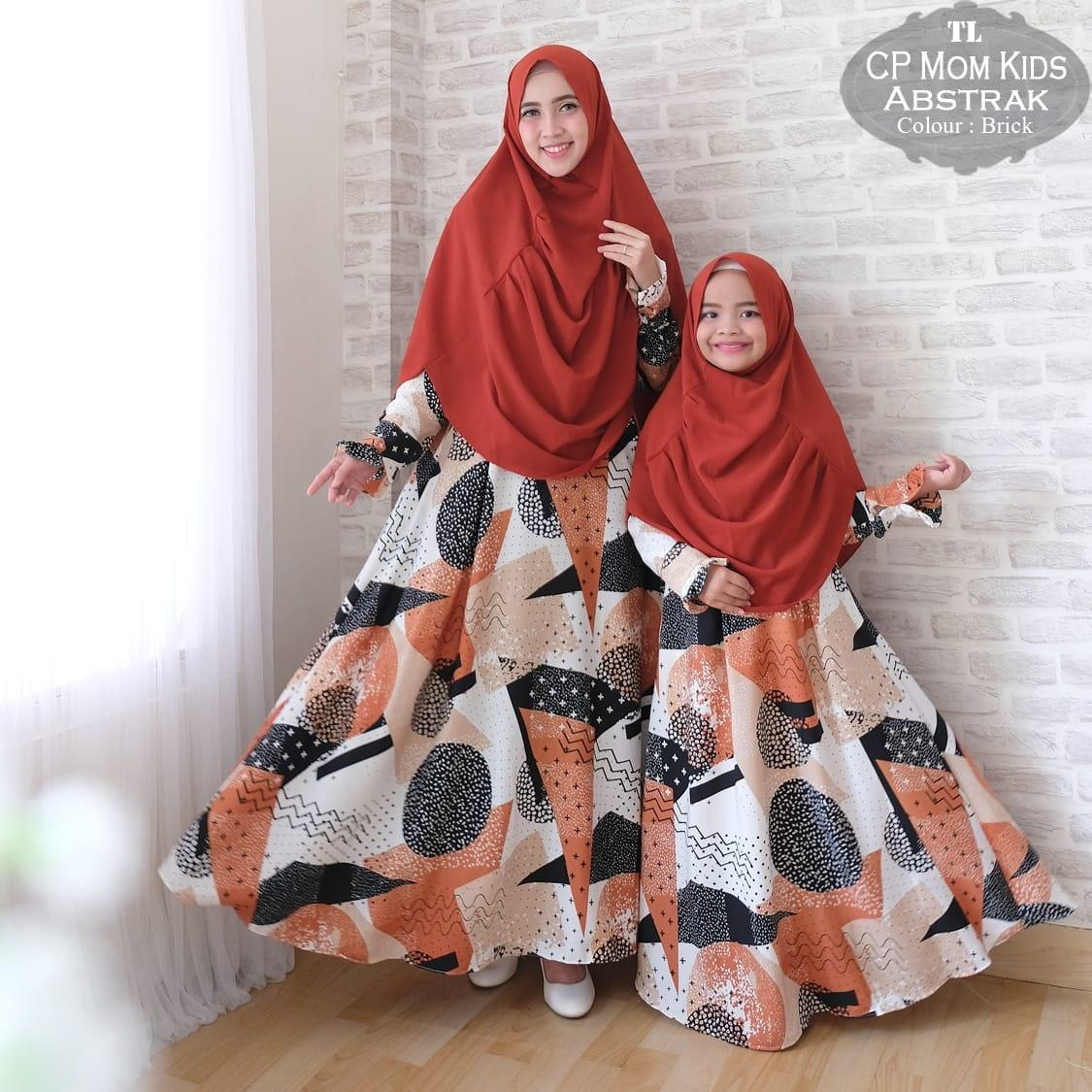 silentriver88 gamis muslim syar'i monalisa abstrak ibu dan anak. couple