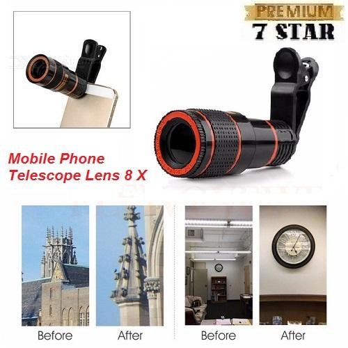 Universal Camera Lensa Telezoom 7STAR 8x Jepit / Telescope For ALL Type Handphone 1Pcs