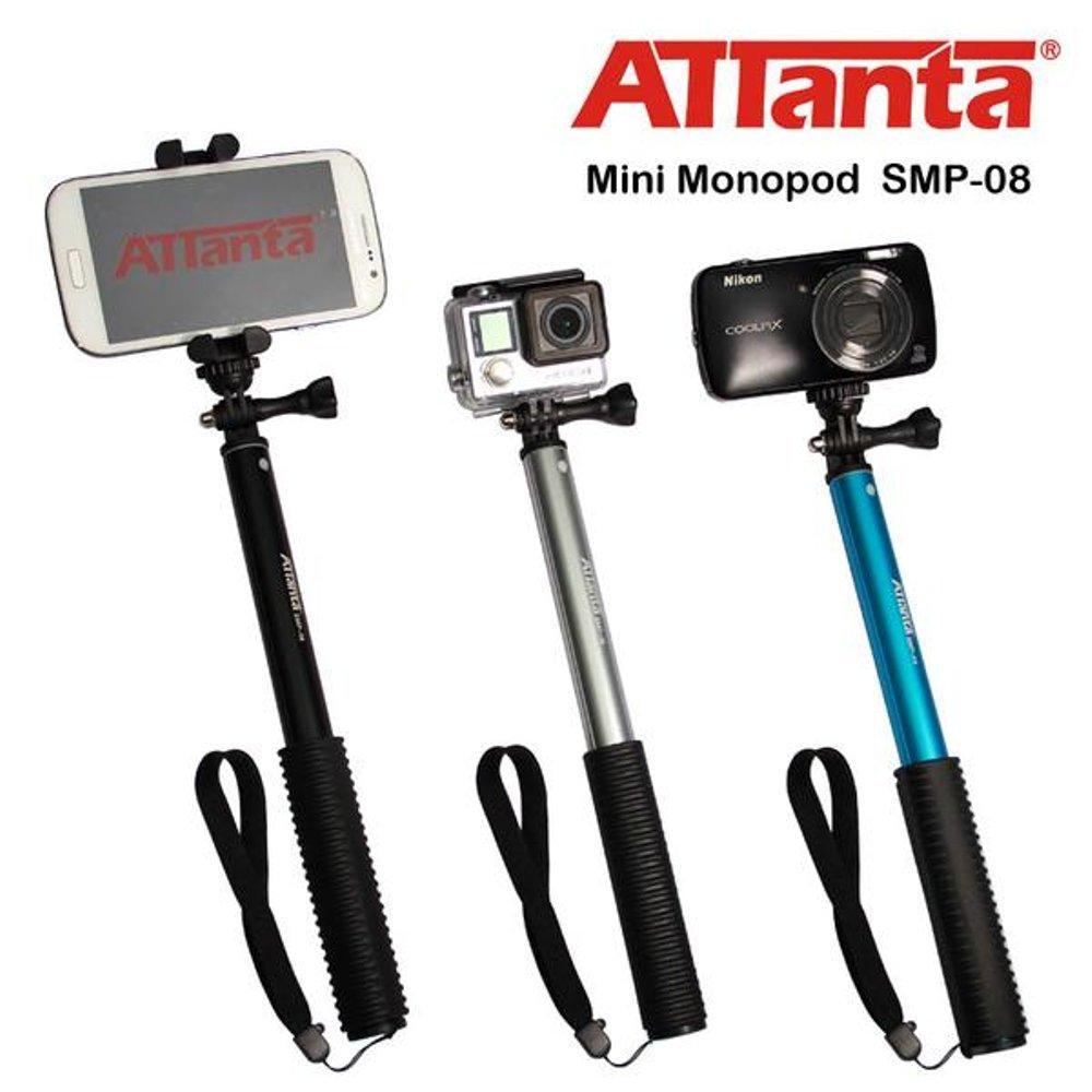 Attanta Smp-08 Tongsis Monopod Titanium Untuk Gopro - Bpro - Sjcam - Xiaomi Yi - Hp - Dslr