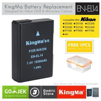 Pencarian Termurah KingMa Baterai EN-EL14 Nikon Battery D5200 D3200 D3100 D5100 D5300 D5500 etc