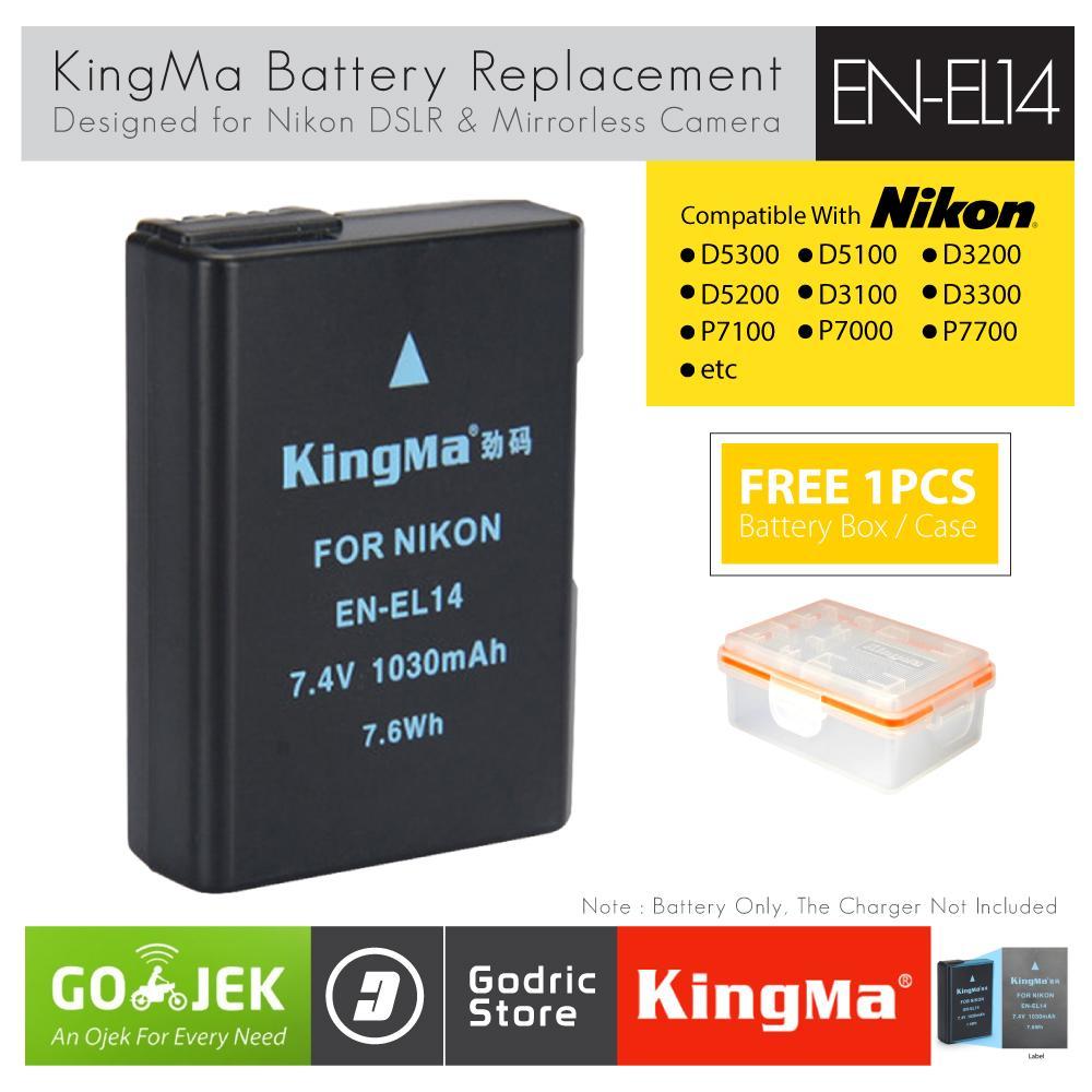 KingMa Baterai EN-EL14 Nikon Battery D5200 D3200 D3100 D5100 D5300 D5500 etc