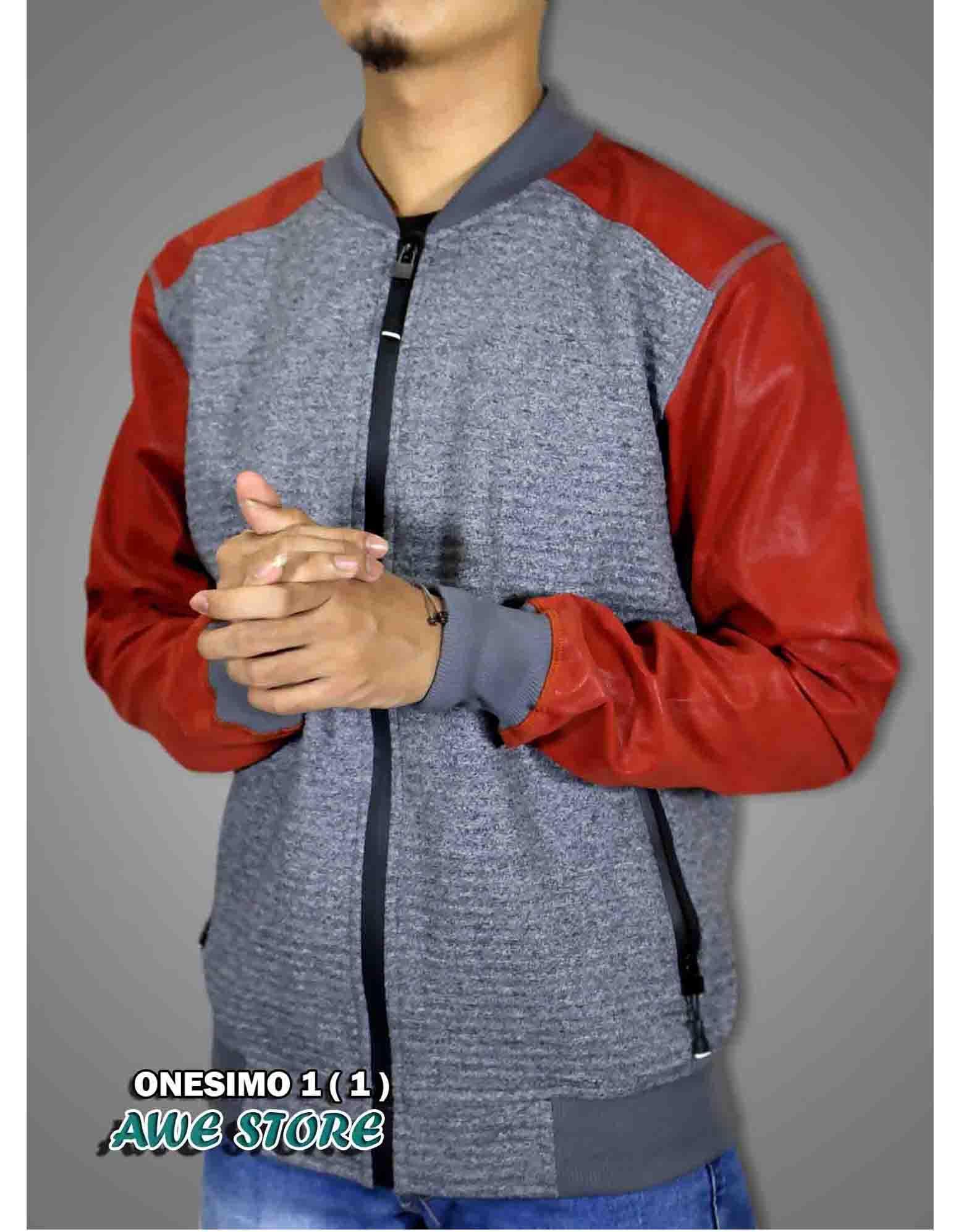 Jaket Distro - Jaket pria - Sweater Pria - Baju Pria - Premium Jaket Onesimo 1 (1)