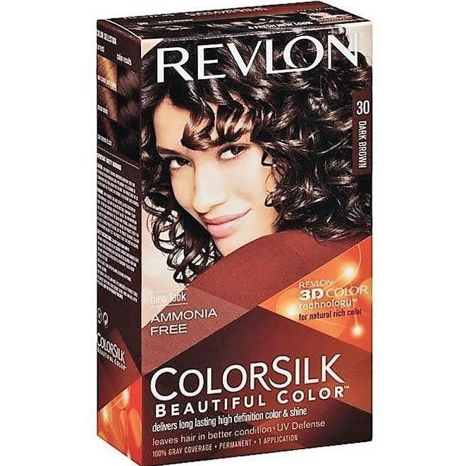 REVLON 30 Dark Brown - Pewarna Rambut Alami Bebas Amonia