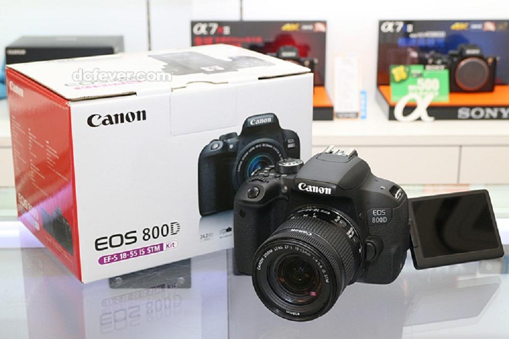 Canon EOS 800D Kit 18-55mm IS STM Black Fullset