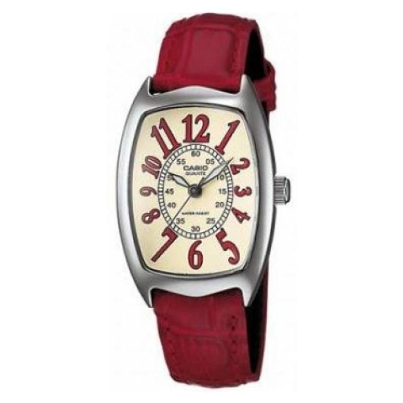 CASIO ORIGINAL Standard LTP-1208E-9B2DF - Jam Tangan Wanita - Merah - Kulit