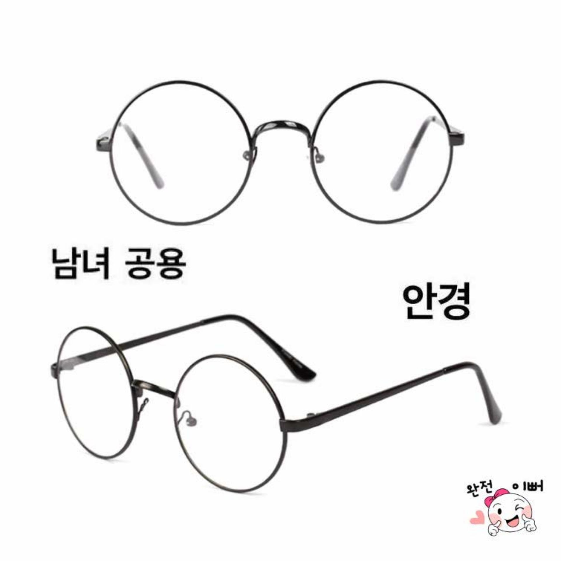 Korea Fashion Style - Kacamata Bulat - Fashion - Unisex - Hitam - Clasic  Round Glasses 240432bc3c
