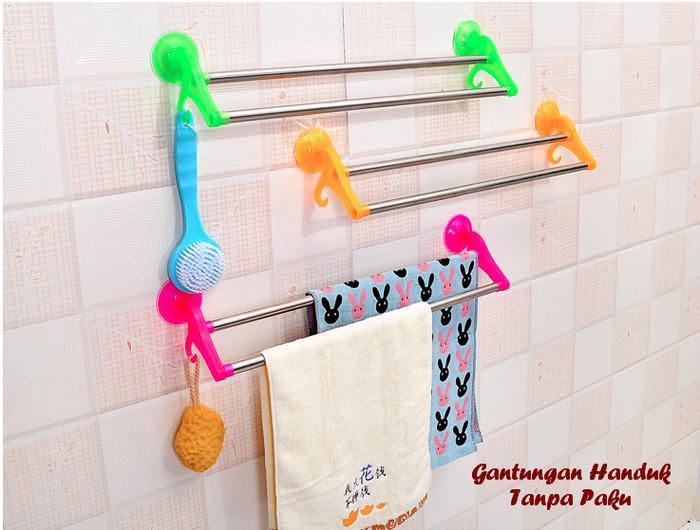 Tempat / Gantungan / Hanger Handuk Dinding Kamar Mandi Harga Murah ||| jemuran handuk gantungan handuk handuk mandi dewasa bayi terry palmer kimono mandi karakter kecil anak baju merah putih 70x166