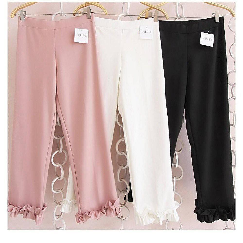 Baby Talk Club Kulot COCO Ruffle Pants Kulot Celana Kulot Panjang Wanita Jumbo Long Pant - Celana Wanita Kulot - Celana Kerja Celana Kuliah Celana Fashion Berhijab