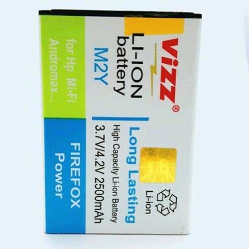 Vizz Baterai Batt Batre Battery Double Power Vizz Modem Wifi Mifi Smartfren Andromax M2Y 2500 Mah