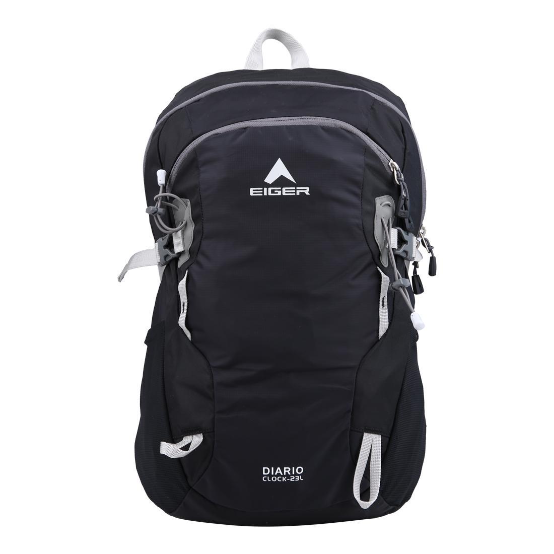 Eiger Diario Clock Daypack 23L - Black 6994cb6c71