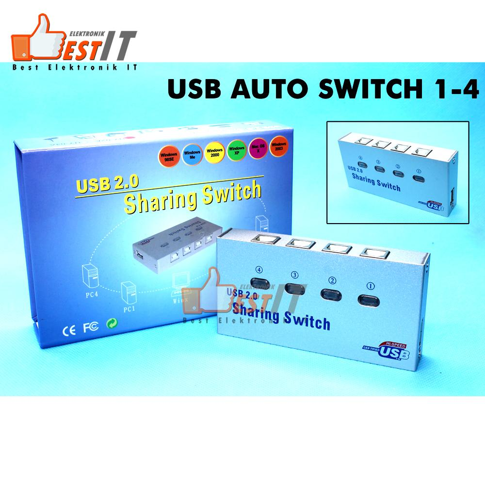 Usb Printer Sharing Switch Paralel 1-4 Auto