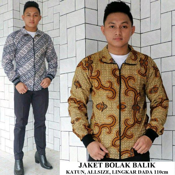 jaket batik BOLAK BALIK  Exclussif bahan katun super geser utk memilih