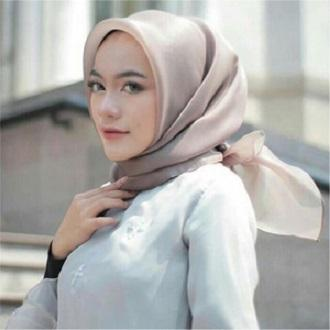 Hijab Organza Silk Original Organdi Linen Rubiah / Jilbab Rubiah/ Kerudung Rubiah/ Jilbab Segiempat/ Busana Muslim