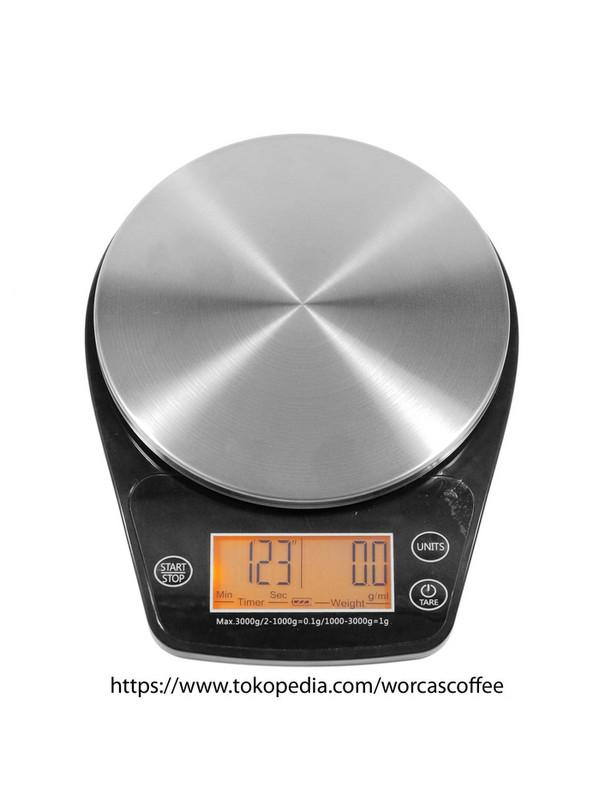 PALING DICARI Coffee Drip Scale With Timer Digital Scale Kitchen Scale TERLARIS