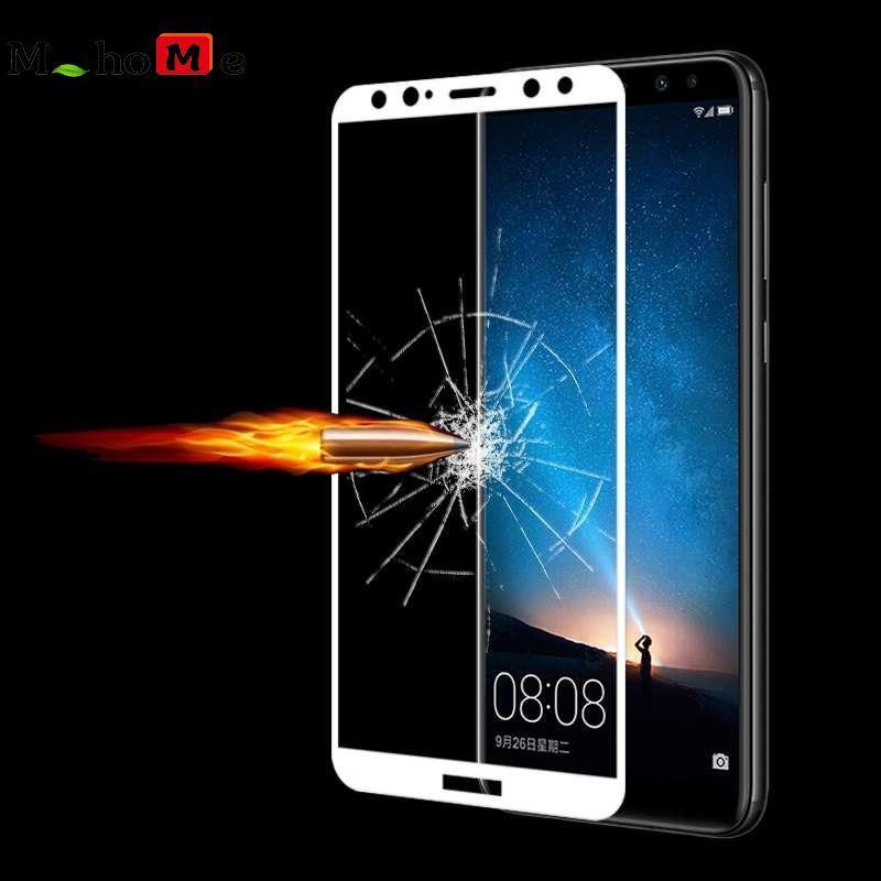 M_home Anti Gores Kaca Antigores Sutra Cetak Penuh Pelindung Layar Film untuk Huawei Nova 2i Putih