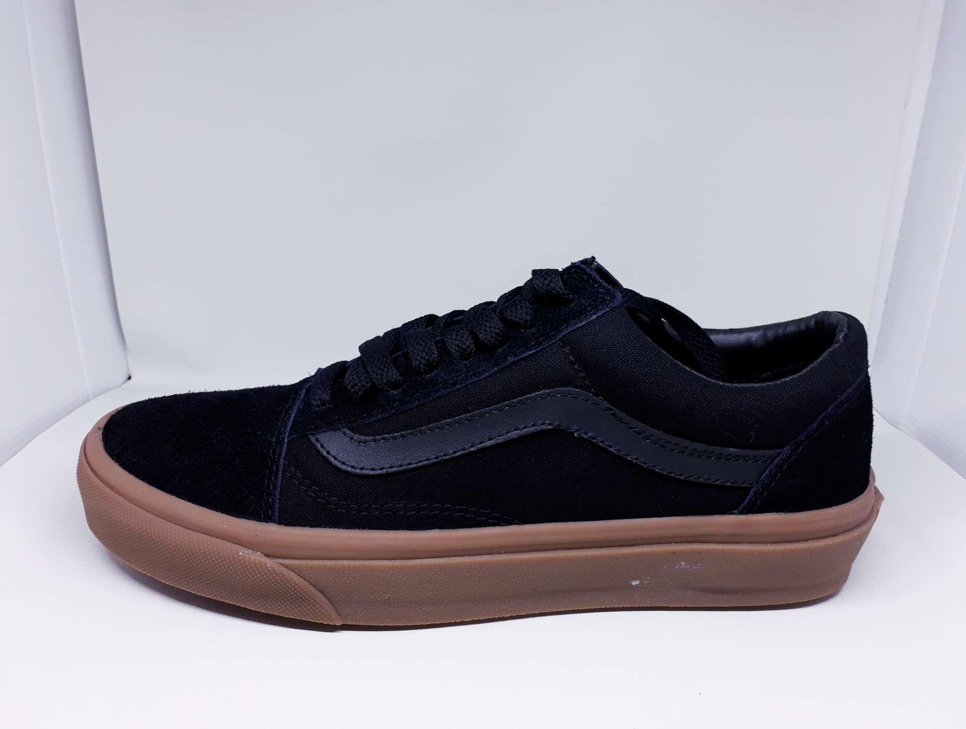 Sepatu Vans Old Skool Mono Black Gum