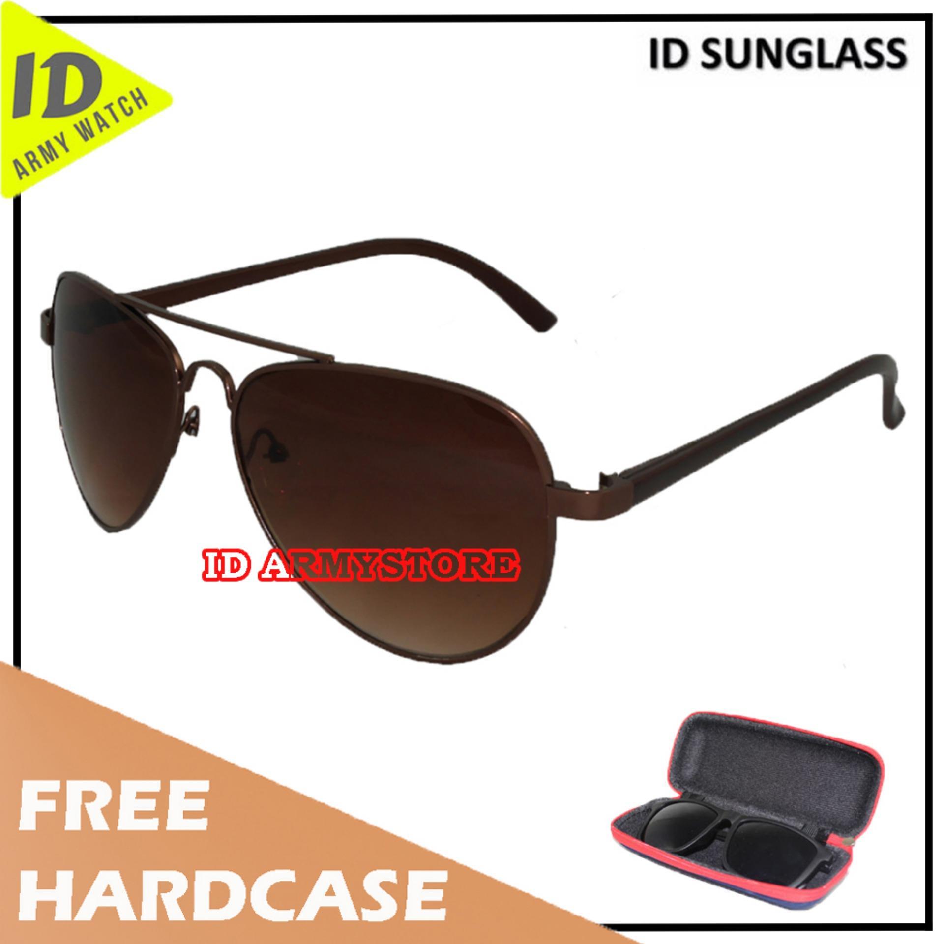 ID Sunglass - Kacamata Aviat Pria Wanita - Frame Coklat - Lensa Coklat SUN 1003-03
