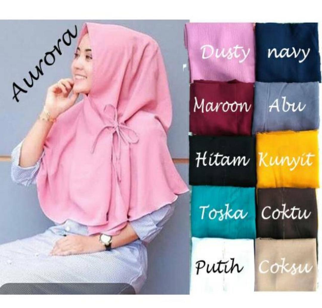 Purplelily Khimar Aurora non pet/khimar aurora hijab jilbab khimar instan