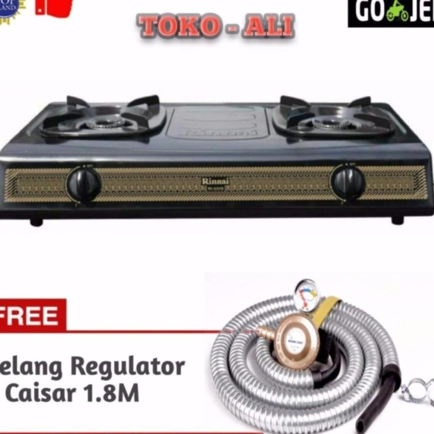 Rinnai RI-522S Kompor Gas 2Tungku + Win Gas Selang Regulator Meter