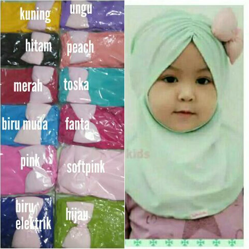 jilbab bayi pita pinggir - kerudung bayi dan anak - hijab bayi- khimar anak di lapak AF ONLINE 19yuniarti