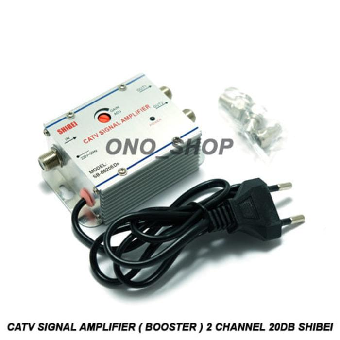 Rp 93.000. CATV Signal Amplifier ( Booster ) 2 Channel 20dB ...